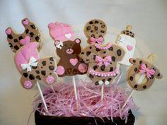 leopard baby shower cookies by SweetTreatsSJ on Etsy, $30.00