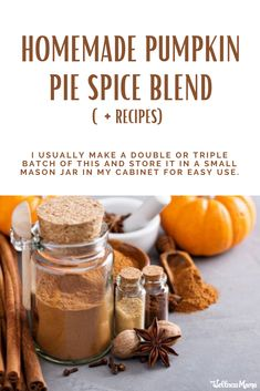 Pumpkin Pie Spice Blend Recipe, Pie Spice Recipe, Healthy Pumpkin Pies, Homemade Pumpkin Pie, Homemade Spice Blends, Homemade Spices, Southern Food, Southern Recipes, Healthy Drinks