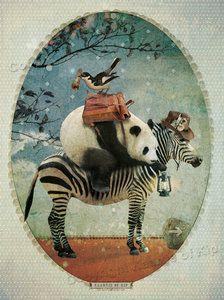 #Poster #Panda met Gedicht. Lief voor de #Babykamer. 1 poster met panda en 1 klein gedichtje om ernaast te hangen.