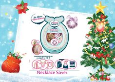The Necklace Saver. Cute stocking Filler gift. Necklace Saver - it's a simple, elegant and easy-to use product that keeps your necklaces tangle free, at home or on the go! http://www.secretfashionfixes.ie/the-necklace-saver/necklacepd.html