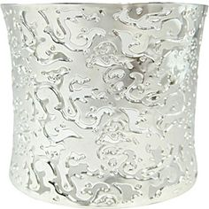 Bling by Wilkening Precision Laser-Cut Rhodium Plated Couture Bangle