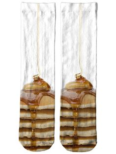 Pancake Stack Crew Socks by Beloved Shirts