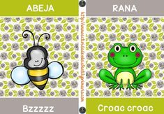 decora tu aula Tarjetas onomatopeyas de animales -Orientacion Andujar Yoshi, Leo, Sons, Classroom, Education, Cards, Fictional Characters, English, Poster