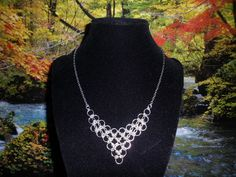LightWeight Chainmaille Necklace by JohnsonChains on Etsy, $16.50