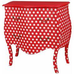 red&white.quenalbertini: Red White Polka Dot Dresser