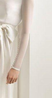 Mangas de novia en tul de seda