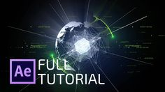 After effects tutorial: futuristic 3d globe from 2d image