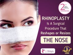 Not happy with the shape of your nose? Think of opting for #Rhinoplasty it will not only enhance the beauty of your face but also provide a whole new definition! #TheNewYou #CosmeticTreatment #CosmeticSurgery
