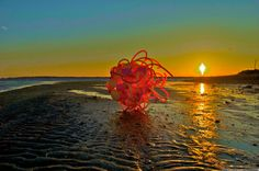 Float, Balloon Sculptures by Janice Lee Kelly Lee Kelly, Janice Lee, Floating Balloons, Sculptures, Celestial, Sunset, Outdoor, Beautiful, Outdoors