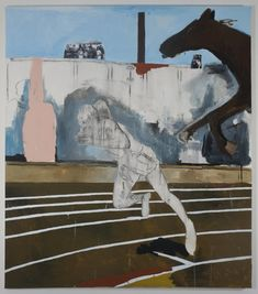 Henry Taylor. Jesse Owens in '36, 2010. Acrylic on canvas. 222.3 x 195.6 cm