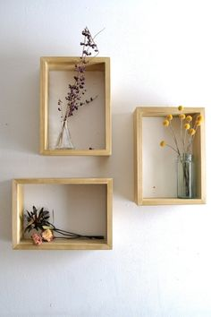 Rectangular Shadow Box Set of 3 by The807 on Etsy