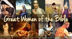 """""""Great Women of the Bible"""" Collage Bible Craft"""