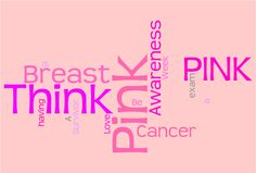 created here [link] This may be used as stock, or go to the link and create your own This is for the Think Pink III Breast Cancer Awareness Week Contest. Think Pink Word Cloud Pink October, Everything Pink, Breast Cancer Awareness, My Images, Pretty In Pink, The Cure, Deviantart, Thoughts, My Love