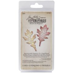 Sizzix Movers & Shapers Magnetic Dies By Tim Holtz 2/Pkg-Tattered Leaves