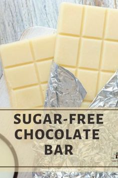 Learn How To Make Homemade Sugar-Free White Chocolate Bar from Scratch, super Quick and Easy with only 3 Ingredients and Vanilla Extract, which is optional. This Creamy, Decadent, Keto White Chocolate Bar is fully Sugar-Free, Low Carb, Gluten-Free, Grain-Free, and perfect for Diabetics.