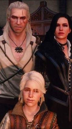 Geralt Yen and little Ciri