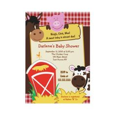 Farm Babies 5x7 Baby Shower Invitation from http://www.zazzle.com/farm+baby+shower+invitations