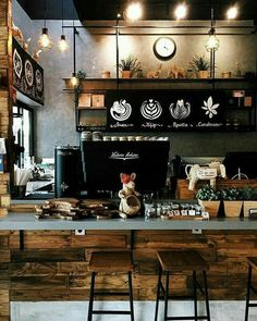 Coffee shops/bars my future coffee shop, 2019 coffee shop bar, Coffee Shop Bar, Coffee Shops, Best Coffee Shop, Rustic Coffee Shop, Coffee Bars, Coffee Coffee, Cafe Restaurant, Restaurant Design, Coffee Shop Interior Design