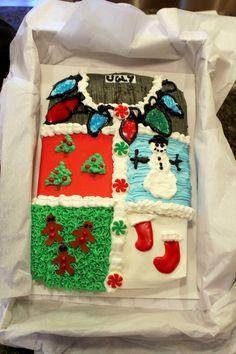 Tacky Christmas Sweater Cake