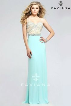 efded6eae9311d eBay  Sponsored NEW Faviana 7782 Long Evening PROM Dress Gown Jersey Sizes  00 4 6