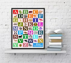 Hey, I found this really awesome Etsy listing at https://www.etsy.com/listing/458665958/animal-zoo-print-zoo-alphabet-print