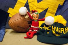 Elf on the Shelf - M Go Blue!