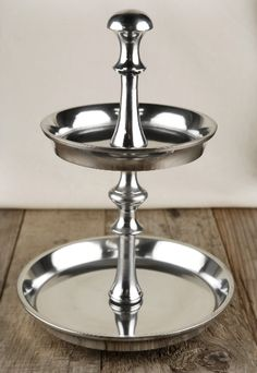Candy Trays Aluminum 2-Tier 9 in.