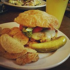 Cajun salmon sandwich at the Pan-American Grill & Brewery in downtown Buffalo. http://instagram.com/p/Td6GCWRB9m/