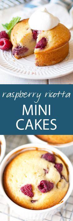 raspberry ricotta mini cakes | ahappyfooddance.com