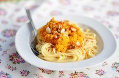 Pasta mit Karottenpesto histaminfrei | histaminfreie Rezepte | Vegetarisches Rezepte | mitohnekochen.com