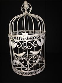 Ivory Birdcages - 2 Available, Rental Price $4 each