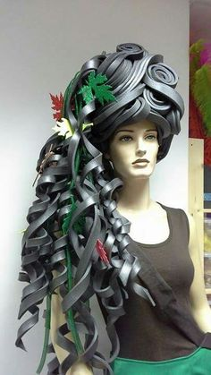 Autumn Queen Foam Wig - Not quite!!... up to Antoinette standards, DAHLINK@@This looks like black liquorice; a Liqourice Wig!
