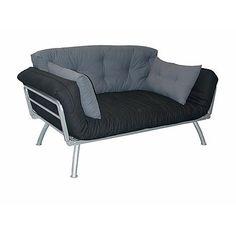 Elite Mali Flex Futon Combo with Coal & Pewter Cushions