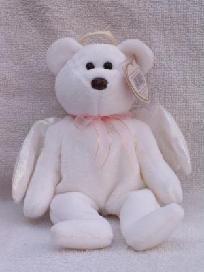 """HALO"" TY BEANIE BABY TEDDY BEAR ANGEL. Beanie Baby Bears, Baby Teddy Bear, Beanie Babies, Ty Bears, Christmas Home, Babys, Halo, Angels, Decorations"