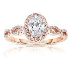 Rose Gold Engagement Rings, Pink Engagement Rings - True Romance
