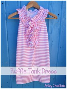 Kate Spade inspired dress that I made out of jersey knit for Emma.  She loves it. #tankdress