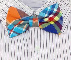 Cotton Colorful Plaid Handmade Bow Tie