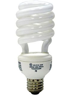 Change a Light Bulb - Installing a compact fluorescent bulb (CFL) is the quickest, easiest way to save energy !
