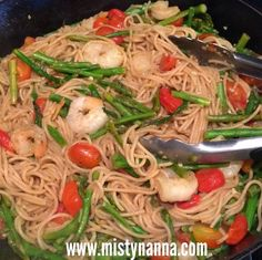Fit for Life: Shrimp With Whole Wheat Pasta!
