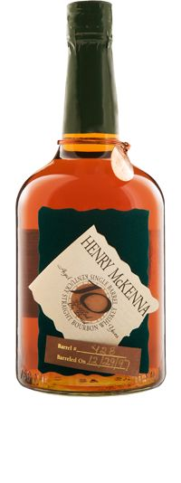 Henry McKenna Single Barrel is the only extra aged Bottled-in-Bond Single Barrel Bourbon, indicating it meets exacting U.S. government standards for age and proof. The label on each bottle of Henry McKenna Single Barrel contains handwritten authentication of the exact barrel number and the date it was barreled.