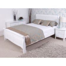 Caprice White Wooden Bed Frame