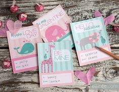 printable kid valentine cards