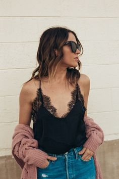 2988f94d63a Shop the Look from Leah Behr on ShopStyle  This sexy black bodysuit doubles  perfectly as a V-Day treat for your dude.  shopthelook  ShopStyle   SpringStyle   ...