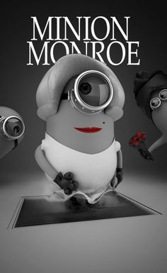 Minion Monroe- OMG Tyler this is too funny!Thank you my darling grandson- Love you and Miss Marilyn Minion Monroe! Amor Minions, Cute Minions, Minions Despicable Me, My Minion, Minions Quotes, Minions Pics, Minion Rush, Minion Stuff, Evil Minions