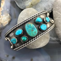 Vintage Silver Turquoise Bracelet Cuff, Bracelet For Men Or Women, Native Southwestern Jewelry, Anniversary Gift For Her For Him – Ruby Jewelry Turquoise Wedding Jewelry, Turquoise Bracelet, Silver Jewelry, Vintage Turquoise Jewelry, Vintage Jewelry, Turquoise Jewellery, Silver Rings, Turquoise Cuff, Bracelets For Men