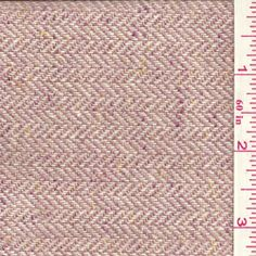 Raspberry Pink Herringbone Wool Coating - Fabric By The Yard
