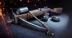 Giant's Shadow and the Grenade Crossbow come to Battlefield 1 on December Steampunk Airship, Dieselpunk, Battlefield 1 Game, Discussion Images, Fallout New Vegas, Grenade, Gaming, Fantasy Weapons, Crossbow