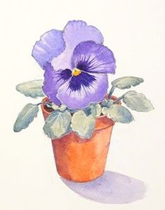Learn to paint this lovely Pansy with Carole Massey as part of our #Acrylic #Floral Module. Now available on ArtTutor