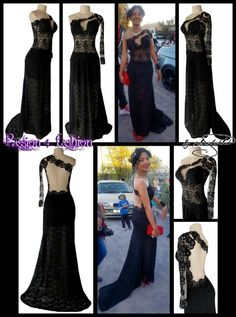 Black fully laced long elegant matric dance dress with an illusion bodice, with an illusion open back, an illusion lace long sleeve and a train. Matric Dance Dresses, Prom Dresses, Formal Dresses, Prom Dance, Dress Making, Illusion, Bodice, Lace Dress, Evening Dresses