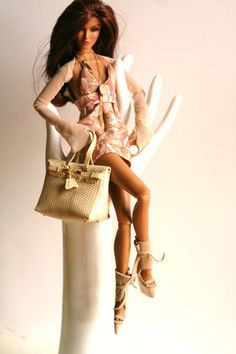 fashion royalty outfit leather shoes doll birkin bag by dollsalive, $49.00
